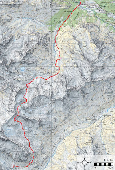 Karte 5: Tag 6 (Chamanna digl Kesch)