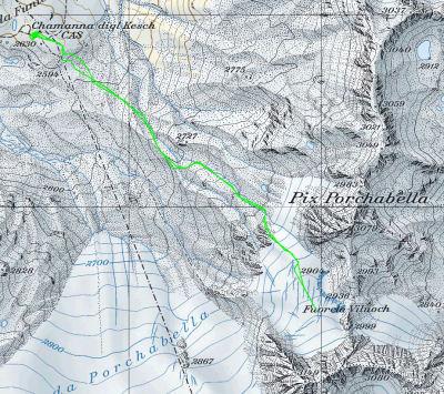 Karte 6: Tag 7 (Fuorcla Viluoch)