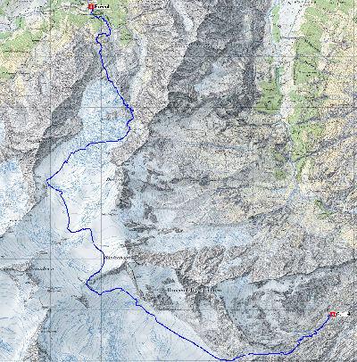 Karte 3: Abfahrt Rosenlaui