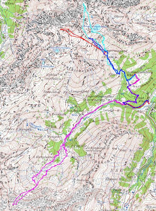 Mini Karte Schwarzenberghütte